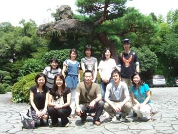 清流荘での記念写真